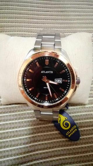 Relógio Atlantis Masculino A Prova D Agua