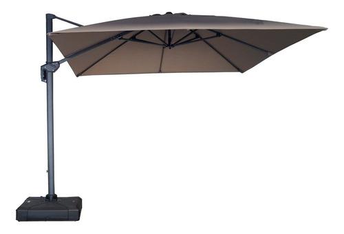 Sombrilla Cantilever Beige Base Con Ruedas Durex Furniture
