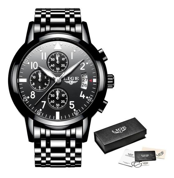 Lige Mens Relógios Top Marca De Luxo