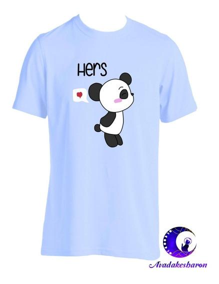 Camiseta Estampada De Pandas Lindos Cute Parejas