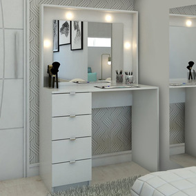 Penteadeira Camarim Sao Francisco Com Espelho Branco