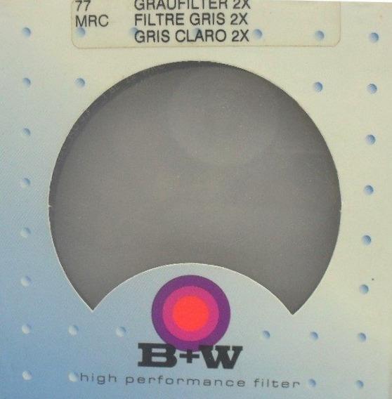Filtro B+w 77mm Nd 2x Densidade Neutra Original Alemanha
