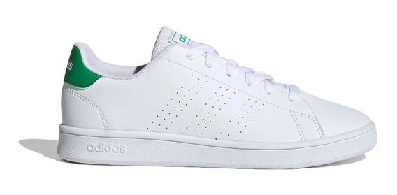 adidas Zapatilla Lifestyle Niño Advantage K Blanco- Verde
