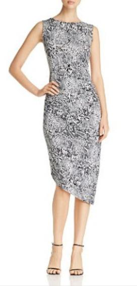 Vestido Mujer Calvin Klein Nuevo Asimetrico De Vibora T M