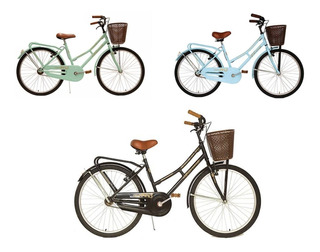 Bicicleta Vintage Dama Paseo Retro Fiorenza Canasto R 26