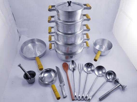 Kit De Panelas Em Alumínio Fundido Com 17 Peças Completo