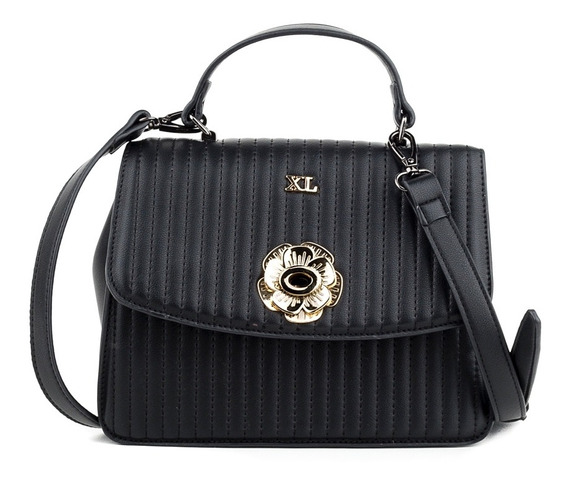 Cartera Chica Mujer Xl Extra Large Dolce Negro