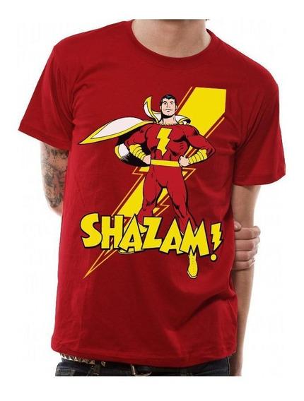 Playera Shazam Comics Todas Las Tallas Logo Rayo Marvel