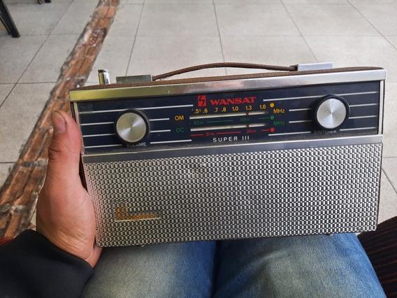 Primeiro Rádio De Pilha Wansat Para Colecionador