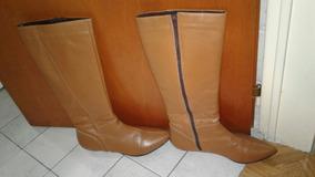 acaf60610 Botas Mujer Caña Alta Color Camel - Ropa y Accesorios en Mercado ...