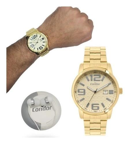 Relógio Condor  Dourado Masculino Co2115kuo/k4d + Brinde-
