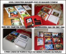 Caixas De Jogos Snes Nes Mega Master Atary N64 Neo Geo 3do