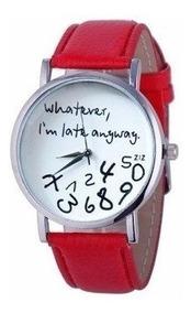 Relógio Eu To Atrasada Mesmo Diversas Cores Com Caixa