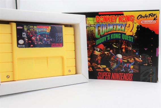 Jogo Donkey Kong Country 2 Super Nintendo Com Caixa E Berço