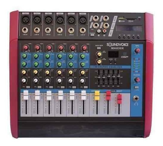 Mesa Som Amplificada 500w 4 Ohms Ma630x 6ch Soundvoice