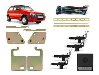 Trava Eletrica + Suporte Fiat Uno Mille 4 Portas