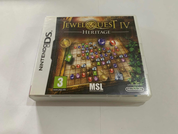 Jewel Quest Iv 4 Nintendo Ds Dsi 2ds 3ds Jogo Original Game