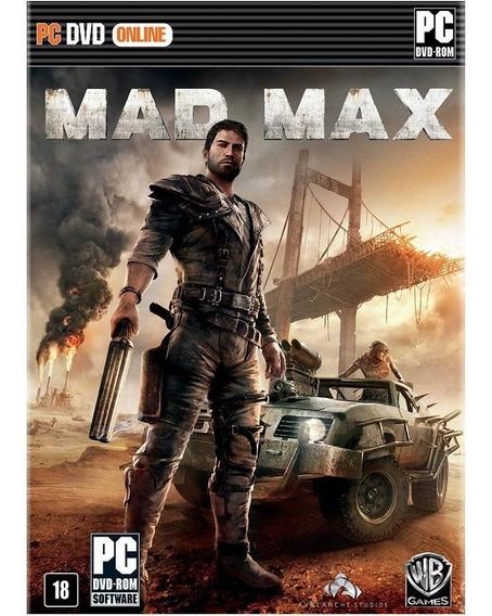Mad Max Pc Mídia Física Novo Lacrado