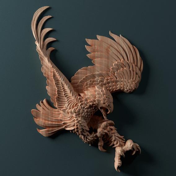 Águilas Tallados En Madera -bajo Pedido