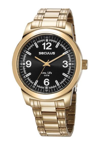 Relógio Masclino Seculus 23639gpsvda3 Promoção
