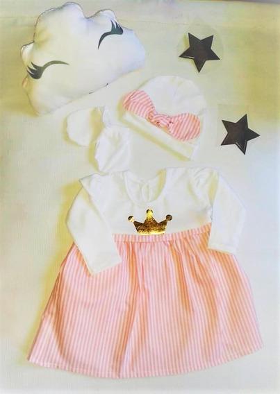 Vestidos Algodon Recien Nacidos Incluye Almohadita