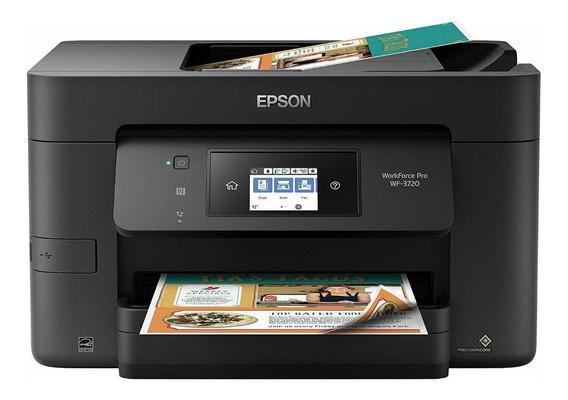 Impressora a cor multifuncional Epson WorkForce Pro WF-3720 com Wi-Fi 110V/220V preta