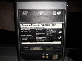 Computador Cpu Completo Monitor 17 Windows 7 Leitor Cd Dvd
