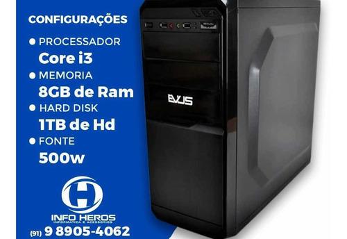 Pc Core I3 3250 8gb De Ram 1tb Gravadora De Dvd  Fonte 500w