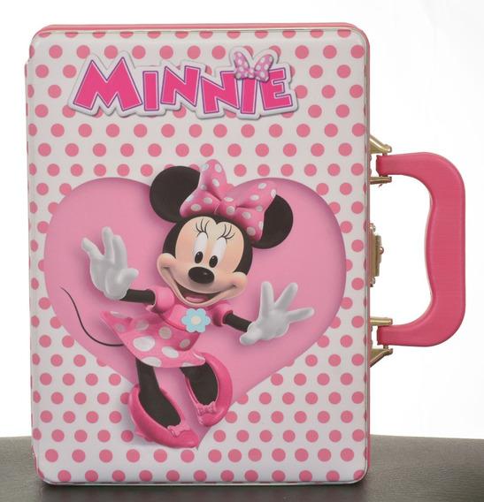 Album De Fotos C/ Estojo Minnie Rosa 15x21 Para 120 Fotos