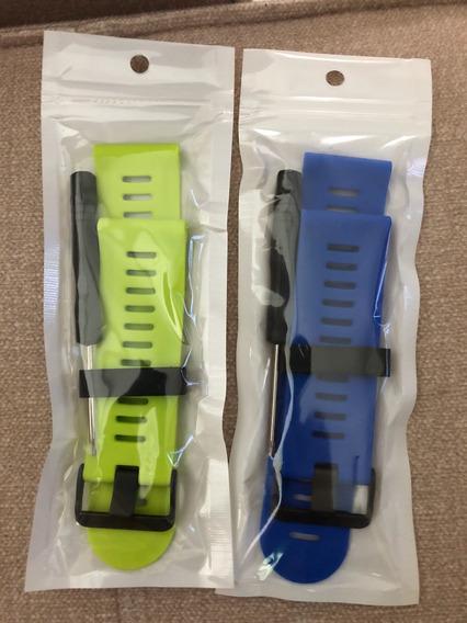 Kit 02 Pulseiras Moko(azul E Verde Cana) Para Garmin Fenix 3
