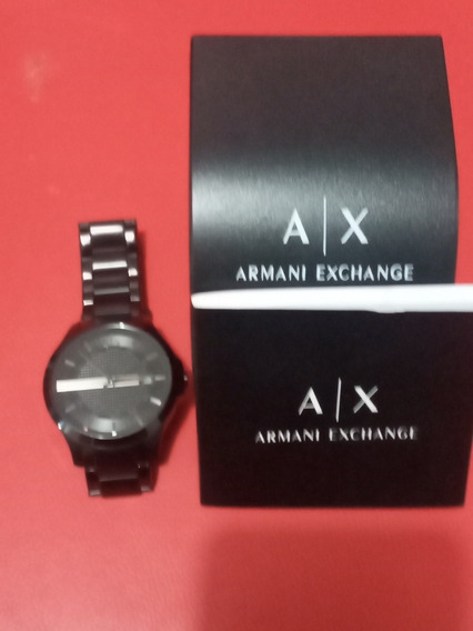 Reloj Armani Exchangue Ax2104 Acero Inoxidable Color Negro