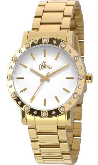Relógio Feminino Allora Analógico Al2035ezs4b - Dourado