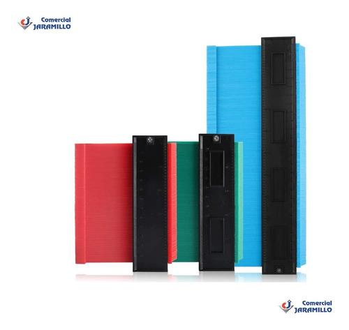 Medidor De Contornos Plastico 3 Piezas Mas Regla/ 920051