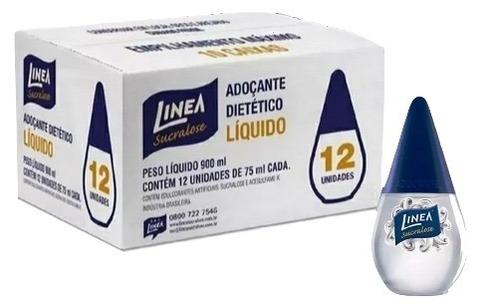 Imagem 1 de 4 de Kit 12 Adoçante Dietético Líquido Linea Sucralose 900ml