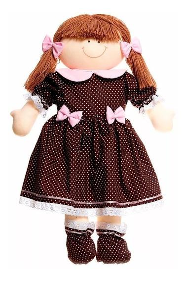 Boneca Pano Berço Provençal Menina Bebê Infantil Quarto Nenê