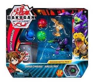 Bakugan Paquete De 5 Unidades De Batalla Darkus Cyndeous Y A