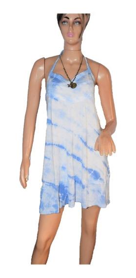 47 Street Vestido Batik Con Puntilla Largo Intermedio