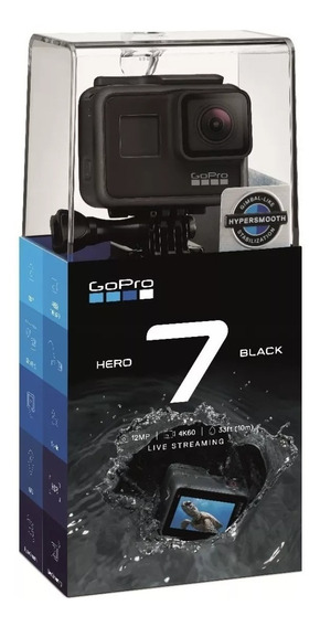Câmera Gopro Hero 7 Black - 12mp - 4k60 - Live Streaming