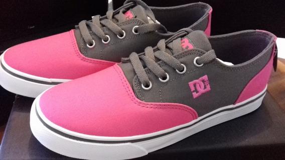 Tenis Dc Shoes Rosas Modelo Flash 2 Tx Nuevos Y Originales