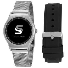 Relógio Seculus Smartwatch Pulseira Prata/preto 79001mosvne2