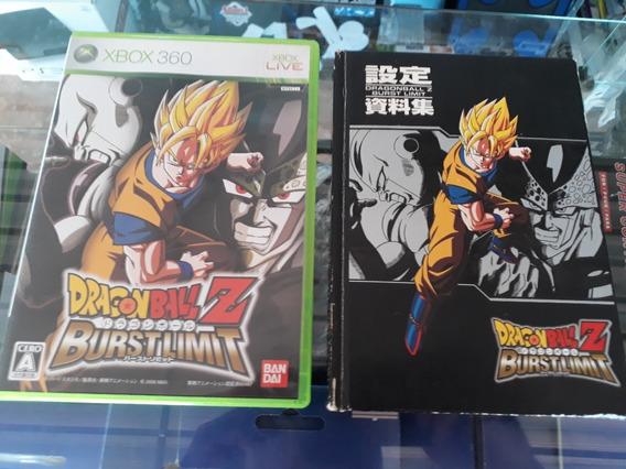 Raro Dragonball-z Burstlimit Para Xbox 360 Japonês Ntsc/j