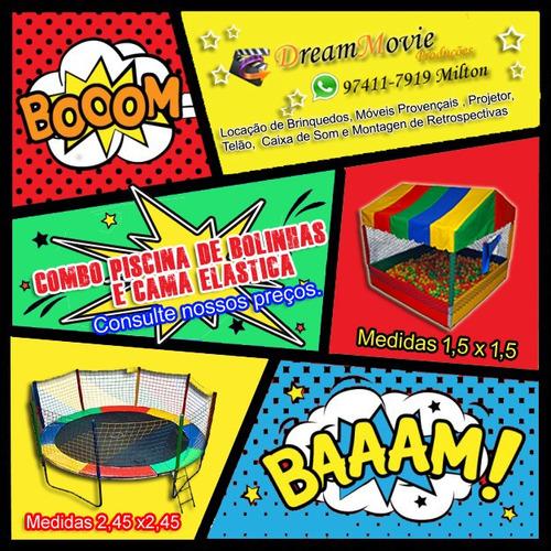 Imagem 1 de 10 de Locação De Brinquedos, Cama Elástica Ou Piscina De Bolinhas