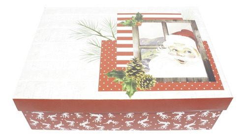 10 Caixas De Natal Montáveis G - Papai Noel 24 X 8 X 18 Cm