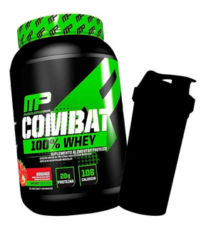 Proteína Mp Combat 100% Whey 907g - Musclepharm + Brinde