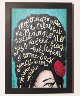 Quadros Poster Vintage Amy Winehouse C Moldura