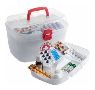Caixa Maleta Alça Primeiros Socorros M Remédio Medicamento