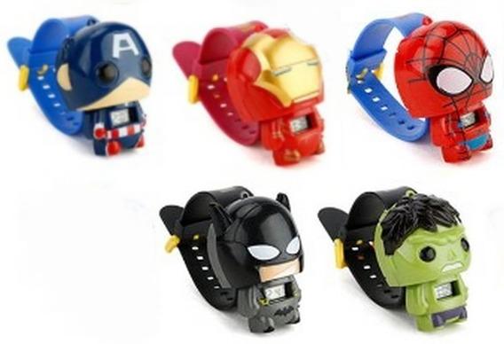 Relógio Infantil Super Heróis