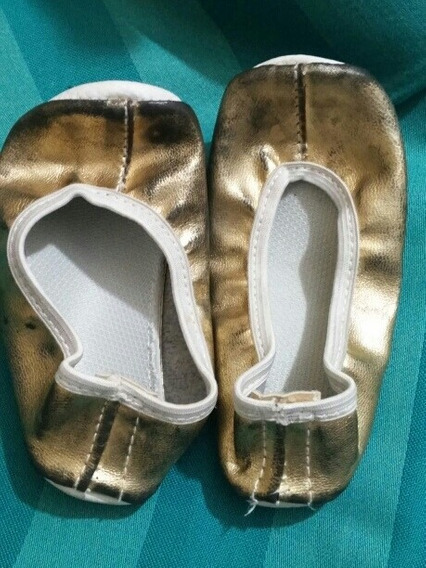 Zapatillas Toreritas Doradas T 22 Disfraz Haloween Carnaval