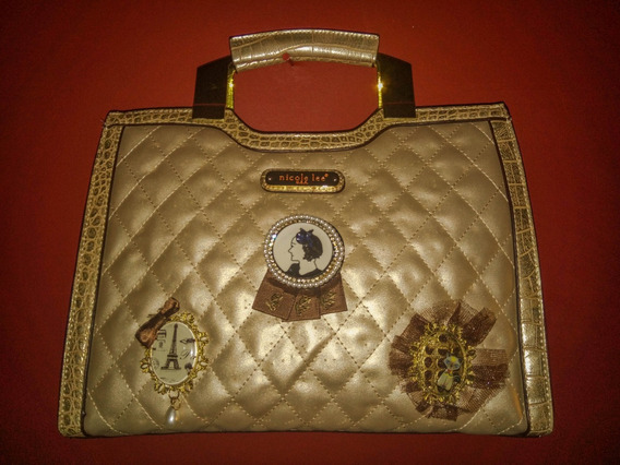 Cartera Nicole Lee Original Usa - Dorada