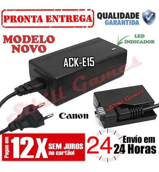 Fonte Ack-e15 Adaptador Ac P/ Canon Eos Rebel Sl1 100d X7